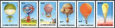 (Ref-12978) St.Thomas & Prince Islands 1980 Balloons Set of 6  Mint (MNH)