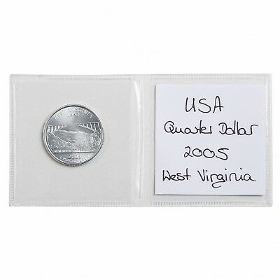 2x2 Vinyl Coin Flips Double Pocket Safe Storage Pack Of 100 With Inserts New