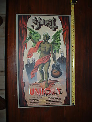 Ghost BC Unplugged Tour Meliora POSTER Lithograph PROMO Unholy