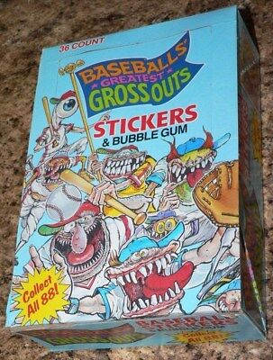 Baseball's Greatest Grossouts Empty Card Box by Leaf.