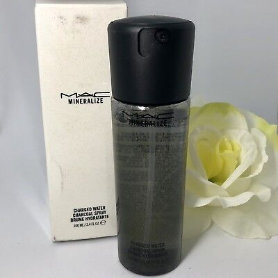 MAC Cosmetics Mineralize Charged Water CHARCOAL Spray~100% Authentic New in Box