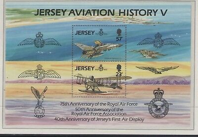 JERSEY 75th ANNIVERSARY OF THE RAF 1993  MINI SHEET OF MINT STAMPS FREE P&P