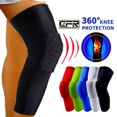 Youth Pad Honeycomb Leg Support Knee Sleeve Brace Sports Support Basketball OBS