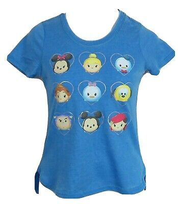 Disney Tsum Tsum Girls T-Shirt Blue Officially Licensed Mickey Mini Mouse