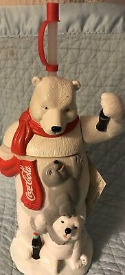 New With Tags Coca-Cola Big Sipper White Polar Bear Coke Bottle