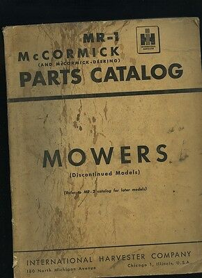 INTERNATIONAL HARVESTER McCormick Deering  Discontinued Mowers  PARTS Catalog