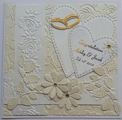 Handmade Personalised ...WEDDING DAY Card.... CHOOSE YOUR OWN NAMES..