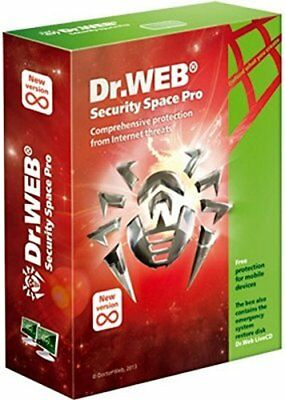 Dr. Web Security Space 2 PC / 2 Years (Unique Global Key Code) 2019