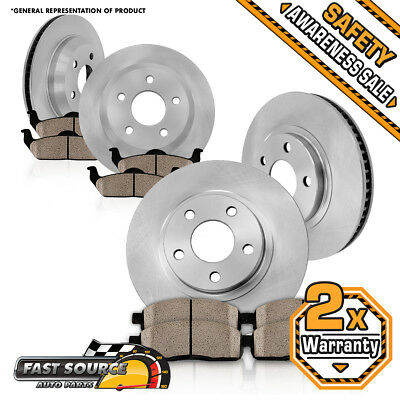 Front 319 mm and Rear 310 mm OE Brake Rotors + Ceramic Pads 2005 - 2012 ACURA RL