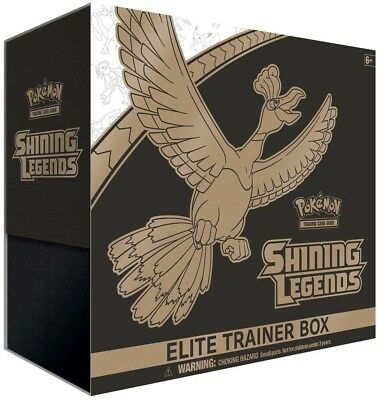 POKEMON TCG Shining Legends Elite Trainer Box includes 10 Booster Packs