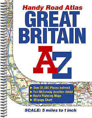 A-Z Great Britain Handy Road Atlas: 4.9 Miles to 1 Inch / 3km to 1cm-ExLibrary
