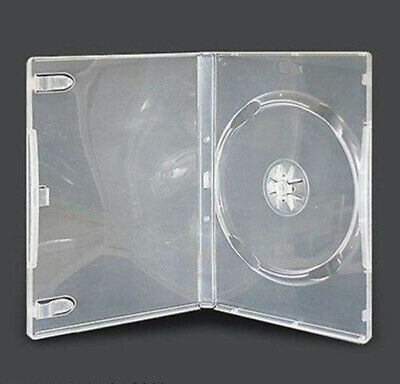 100 Standard Single 14mm DVD Cover HOLD 1 Disc Case CLEAR