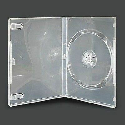 20 Single CLEAR 14mm Quality CD / DVD Cover Cases HOLD 1 Standard Size DVD case