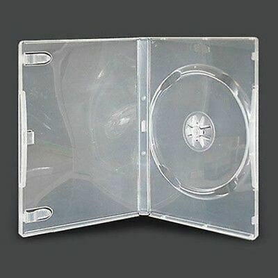 10 Single CLEAR 14mm Quality CD / DVD Cover Cases HOLD 1 Standard Size DVD case