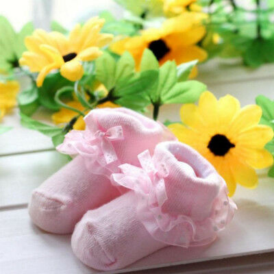 One Size Soft  Non-slip Lace Socks Suitable 0-6 Month One Size Newborn Baby