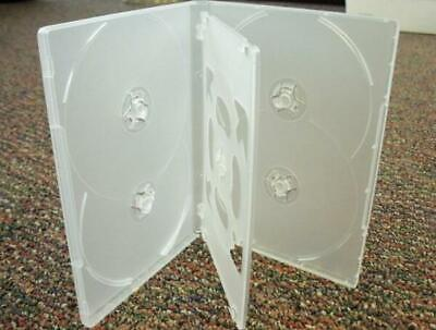 1 Hold 6 14mm Standard Hex DVD Cover Disc Case holds 6 discs + outer wrap CLEAR