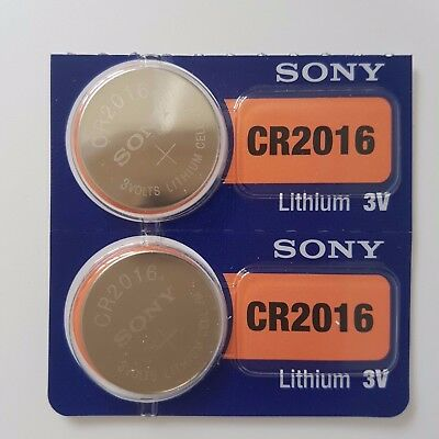 SONY CR2016 BATTERY DL2016 KRC2016 2016 BATTERIES 3V expire 2027 X 2