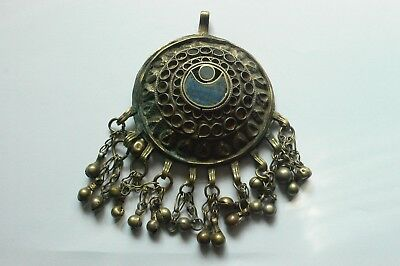 Antique Middle Eastern Pendant with Lapis - large