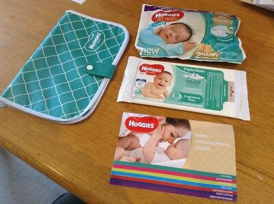 Huggies Newborn Nappies, Wipes, Change Mat, In A Handy Pack/pouch