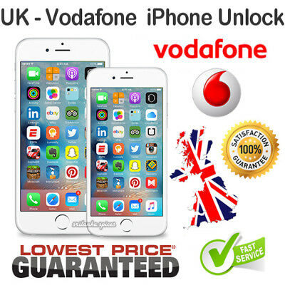 PREMIUM Vodafone UK Unlock Service for iPhone X/8/7/6S/6/5/5S/5C/SE +Plus Models