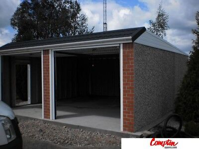 PREFAB GARAGES & BUILDINGS Double Mansard 18ft6in(W) x 18ft3in(L) extra-high