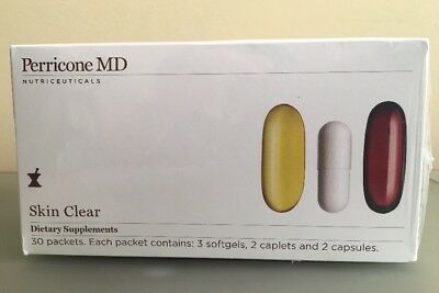Perricone MD Skin Clear vitamins Supplement set 30 day supply NEW exp date 02/19