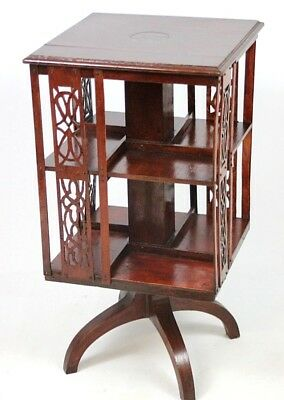 Antique Mahogany Revolving Bookcase - FREE Shipping [PL4452]