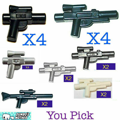 4x Lego Small Blaster Weapons 92738 for Star Wars Minifigures Silver 6124928