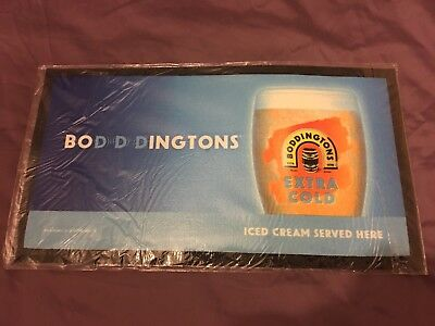 3 Boddingtons Extra Cold Rubber Backed Bar Runners Beer Pub Bar New Sealed