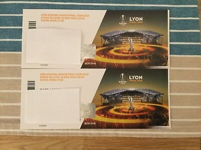 2 TICKETS UEFA Europa League Finale 2018 in Lyon, Kat. 1 ...