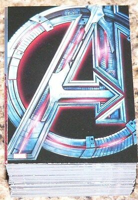 Avengers  Age of Ultron Complete 90 card base set by Upper Deck in 2015