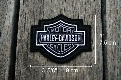 Harley-Davidson Replica Embroidered Sew-on Patch Gray