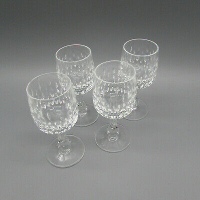 SET OF FOUR - Gorham Crystal CHANTILLY Cordial Glasses