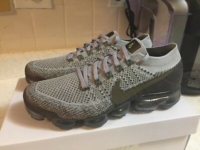 New Nike Nikelab Air Vapormax Flyknit Midnight Fog Running 899473-009 Men  Sz9.5