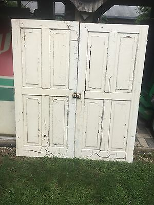 VTG Pair of Architectural  Cabinet Door Wood Farmhouse Shutters  Wedding
