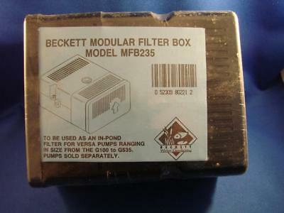 Beckett Modular Filter Box Model MFB235 For Versa Pumps NEW OLD STOCK