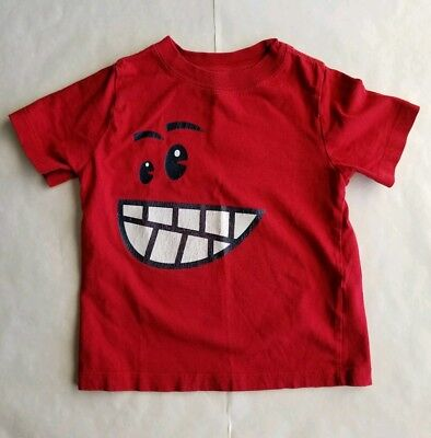 Unbranded Unsex T Shirt Cotton Red Face 3T