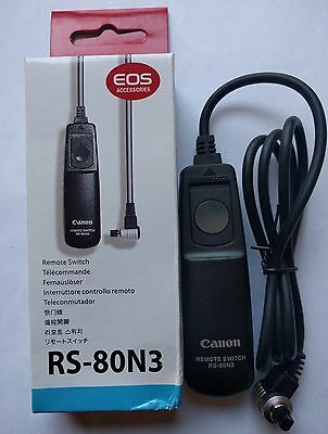 RS-80N3 Remote Shutter Release Switch Cable Cord For Canon 6D 7D 5D Mark III new
