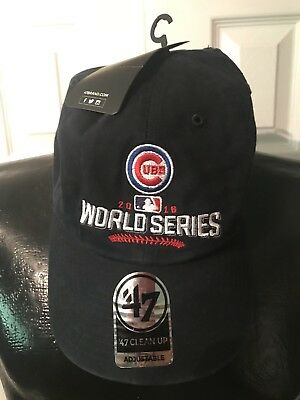 72b52758b08 Chicago Cubs 47 Brand 2016 MLB World Series Champions Adjustable Strap Cap  Hat