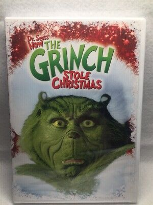 Dr. Suess How the Grinch Stole Christmas BRAND NEW Factory Sealed DVD Jim Carrey
