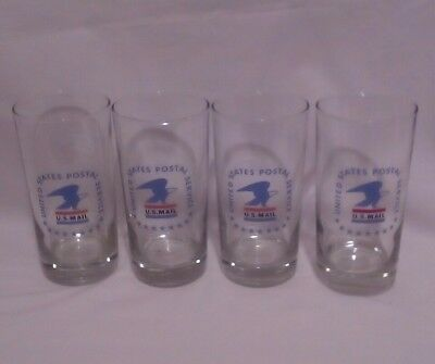 Collectable United States Postal Service Drinking Glasses, Lot of 4