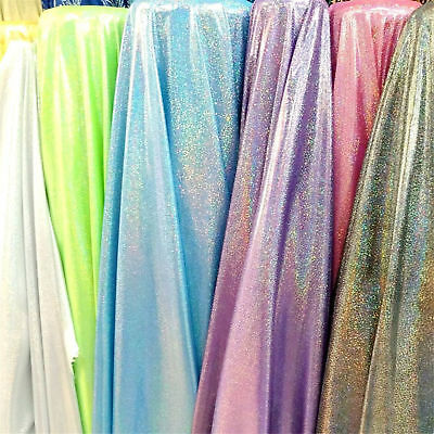 Glitter hologram Foil Fabric Holographic Party Wedding Background Decor Material