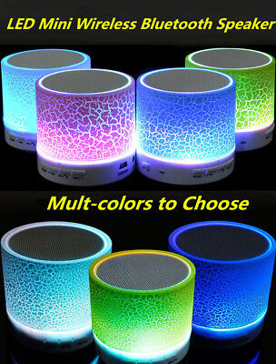 LED Portable Mini Bluetooth Speaker Wireless Bass MP3 Speaker W/ TF USB FM Radio