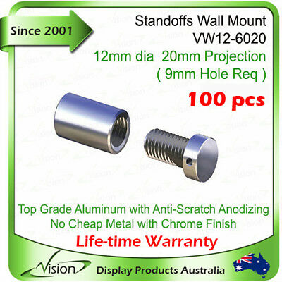 ✅Standoffs x100 Aluminum Screw Signage Fitting Sign Fixing Acrylic Panel Support