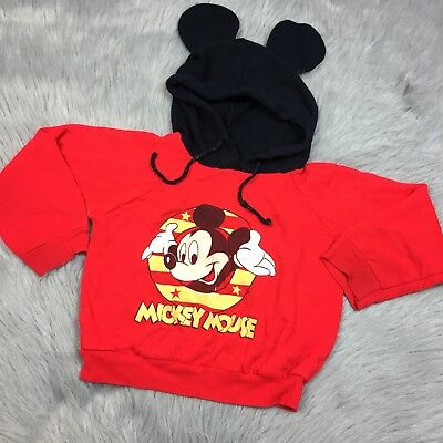 Play Condition Vintage Mickey Mouse Ear Hooded Sweatshirt Disney Toddler