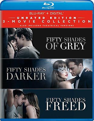 BLU-RAY Fifty Shades: 3-Movie Collection Grey, Darker, Freed, Unrated Edition
