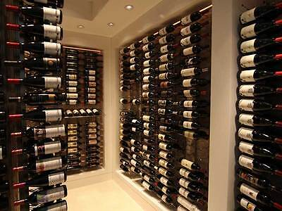 "Steel ""Strip"" Wine Storage Rack - 24 bottles per wall rack"