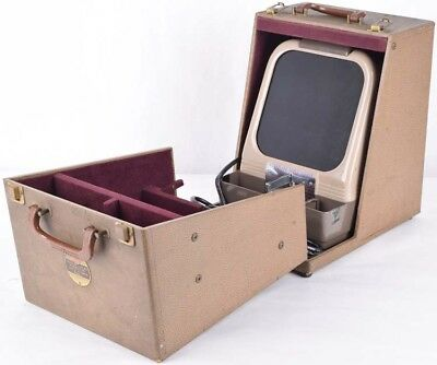 Vintage Antique Kodak KodaSlide Desktop Portable Projector Table Viewer w/Case