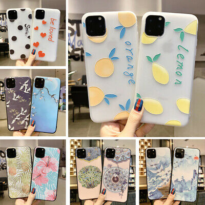 For iPhone XS Max XR X 8 6S 6 7 Plus 5 Soft Silicone Fruits Pattern Case Cover