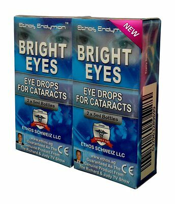 Ethos Bright Eyes NAC Eye Drops for Cataracts 2 Boxes 20ml